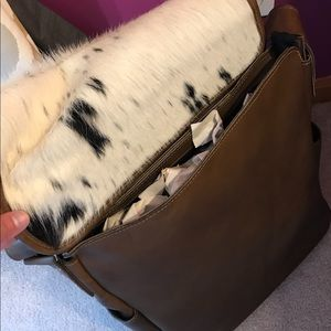 Cow Hyde leather satchel bag free people